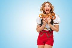 Hambre para los pretzeles Fotografía de archivo libre de regalías