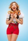 Hambre para los pretzeles imagen de archivo libre de regalías