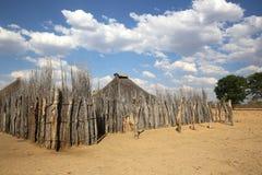 Hambukushu Tribe. Village of Hambukushu Tribe near Divundu. Namibia stock photography