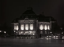 hamburg освещает ночу стоковое изображение