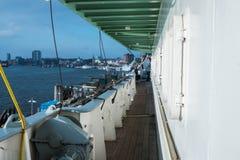 hamburg Палуба ` s корабля с досками стоковое фото rf