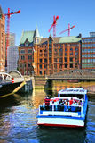 Hamburg. On the photo:Channel of Hamburg royalty free stock images