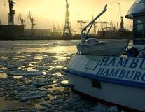 порт hamburg Стоковые Фото