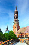Hamburg. Church of St. Catherine, Germany royalty free stock images