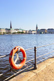 Hamburg. Quay of Alster in Hamburg, Germany Stock Image