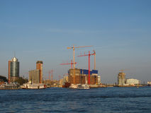 Hamburg. Harbour-centre, the new district from Hamburg Royalty Free Stock Photos