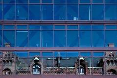 Hamburg. Modern facade reflecting old buildings Royalty Free Stock Photo