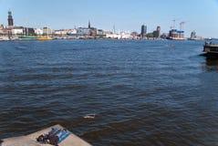 Hamburg. Panorama / skyline of hamburg / germany Royalty Free Stock Images