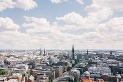 Hamburg from above Royalty Free Stock Photo