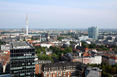 Hamburg aerial view Royalty Free Stock Image