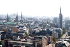 Hamburg aerial view Stock Photo