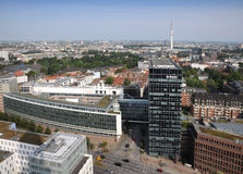 Hamburg aerial view Royalty Free Stock Photos