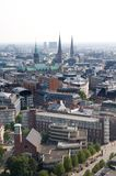 Hamburg aerial view Royalty Free Stock Photography