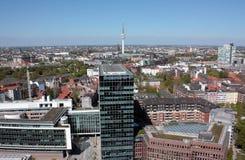 Hamburg air view Royalty Free Stock Images