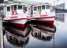Hamburg Alster ferries Stock Photos