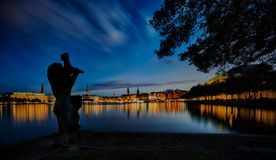 Hamburg Alster Lake Stock Photos