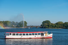 Hamburg Alster lake ship Royalty Free Stock Photos