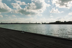 Hamburg Alster shore Royalty Free Stock Photography