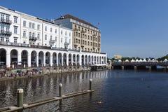 Hamburg Alsterarkaden, editorial Royalty Free Stock Images