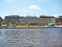 Hamburg Alsterhaus, Duitsland Stock Fotografie