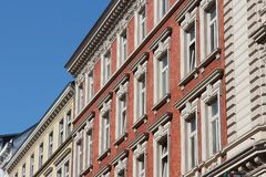 Hamburg apartment buildings Stock Photography