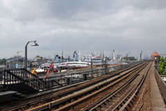 Hamburg, Baumwall stacja metru Obrazy Royalty Free