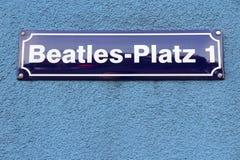 Hamburg Beatles fyrkant Arkivbild