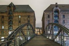 Hamburg beroemde Speicherstadt Royalty-vrije Stock Fotografie