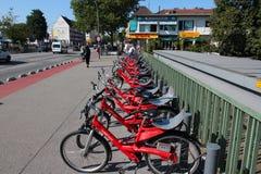 Hamburg bicycles Stock Image