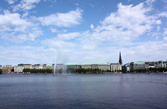 Hamburg Binnenalster Royalty Free Stock Photo