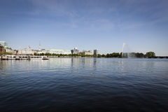 Hamburg, Binnenalster Lake Stock Photos