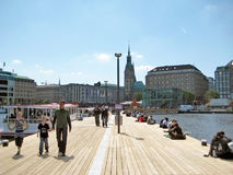 Hamburg, Binnenalster pier Royalty Free Stock Images