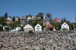 Hamburg Blankenese. The suburb hamburg blankenese is well known as exclusive living place. The houses lie on a hill near the river elbe Stock Photography