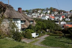 Hamburg Blankenese. The suburb hamburg blankenese is well known as exclusive living place. The houses lie on a hill near the river elbe Royalty Free Stock Images