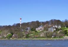 Hamburg Blankenese i vår Fotografering för Bildbyråer