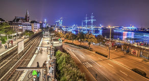 Hamburg Blue Port 2014 HDR Royalty Free Stock Images