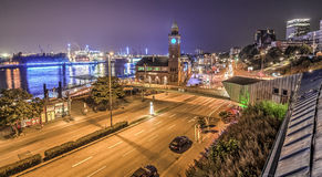 Hamburg Blue Port 2014 HDR Royalty Free Stock Photography