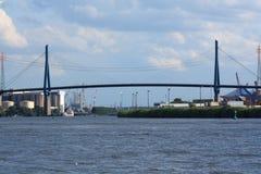 hamburg bridżowy port Fotografia Royalty Free