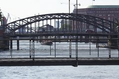 Hamburg - Bridges at the old warehouse district (frontlightning) Royalty Free Stock Image