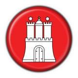 Hamburg button flag round shape Stock Images