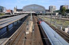 Hamburg Central station. Train station of Hamburg, Germany, Europe Stock Images
