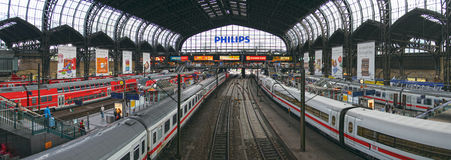 Hamburg central station Royalty Free Stock Image