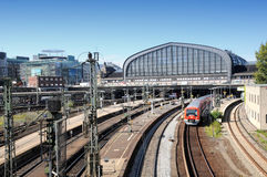 Hamburg centralstation Royaltyfria Foton