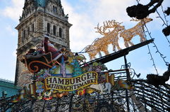 Hamburg Christmas market, Germany Stock Image
