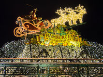 Hamburg Christmas Market in Germany Stock Image