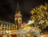 Hamburg Christmas Market in Germany Stock Photo