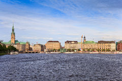 Hamburg skyline Royalty Free Stock Photography