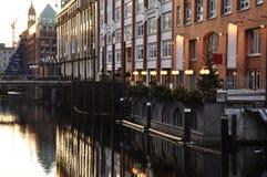 Hamburg city centre canal Bleichenfleet, Germany Stock Photos