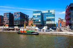 Hamburg city centre view, Germany stock photo