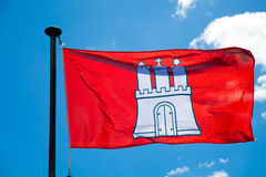 Hamburg City Flag. Flag of the German city Hamburg Royalty Free Stock Image